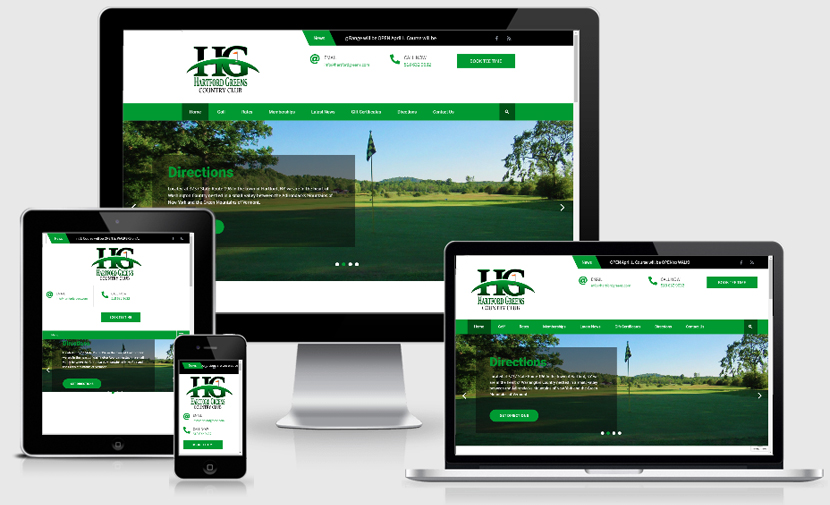 Hartford Greens Country Club Responsive Website with Logo Design