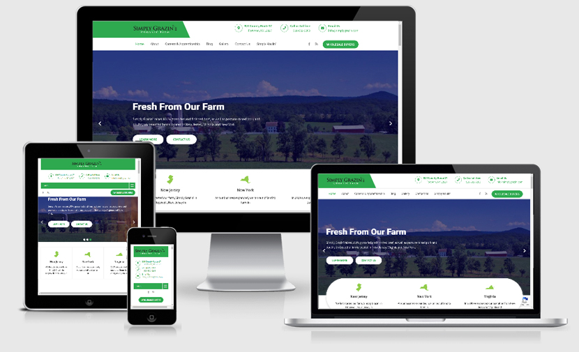 Simply Grazin' website redesign project